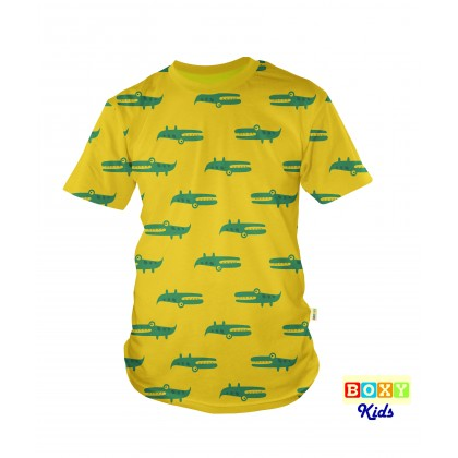 [BOXY] Kids Graphic Tee Clothing - Crocodile