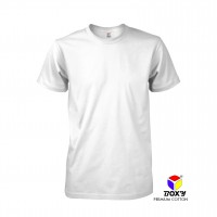 BOXY Premium Cotton Round Neck T-shirt - White