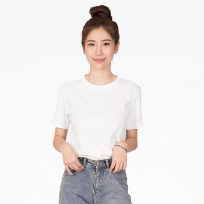 BOXY Premium Cotton Round Neck T-shirt - White