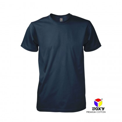BOXY Premium Cotton Round Neck T-shirt - Navy Blue