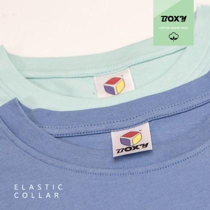 BOXY Premium Cotton Round Neck T-shirt - Navy Blue