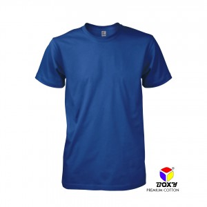 BOXY Premium Cotton Round Neck T-shirt - Royal
