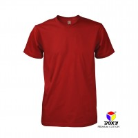 BOXY Premium Cotton Round Neck T-shirt - Red