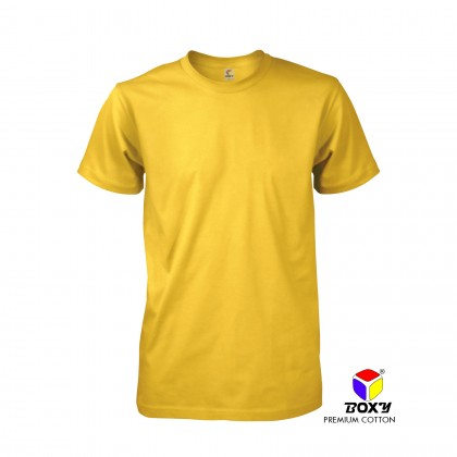 BOXY Premium Cotton Round Neck T-shirt - Yellow