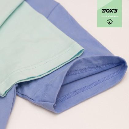BOXY Premium Cotton Round Neck T-shirt - Coral