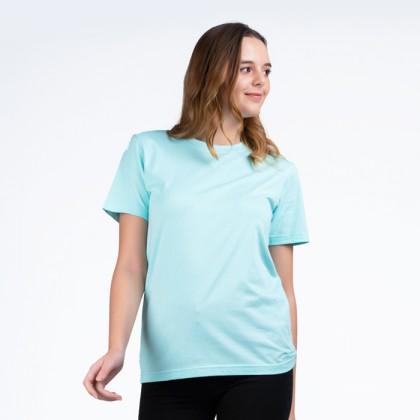BOXY Premium Cotton Round Neck T-shirt - Lt Mint