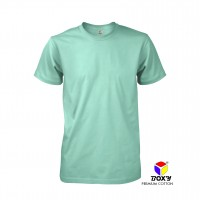 BOXY Premium Cotton Round Neck T-shirt - Lt Mint