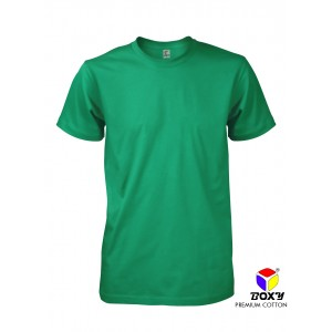 [BOXY]PREMIUM COTTON ROUND NECK T-SHIRT - SMART GREEN