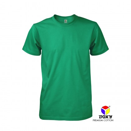 BOXY Premium Cotton Round Neck T-shirt - Smart Green