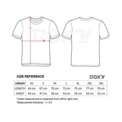 BOXY Microfiber Round Neck Plain T-shirt (Navy Blue)