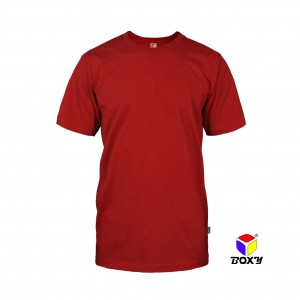 BOXY Microfiber Round Neck T-shirt - Red