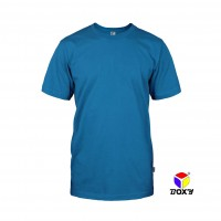 BOXY Microfiber Round Neck T-shirt - Sea Blue