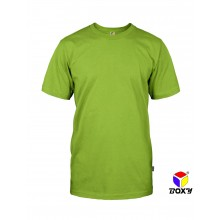 [BOXY]MICROFIBER ROUND NECK T-SHIRT - APPLE GREEN