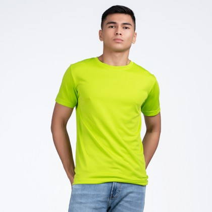 BOXY Microfiber Round Neck Plain T-shirt (Apple Green)