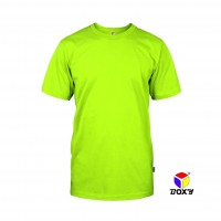 BOXY Microfiber Round Neck T-shirt - Neon Yellow