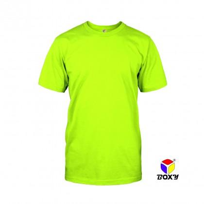 BOXY Microfiber Round Neck Jersey T-shirt (Neon Yellow)