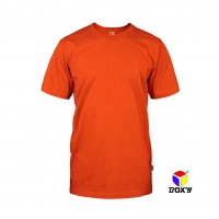 BOXY Microfiber Round Neck T-shirt - Orange