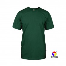 BOXY Microfiber Round Neck T-shirt - Forest Green