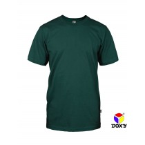 [BOXY]MICROFIBER ROUND NECK T-SHIRT - FOREST GREEN