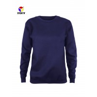 BOXY Ladies Baju Long Sleeves Fleeced Sweater - Navy