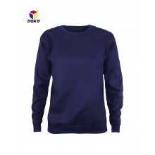 [BOXY]Ladies Baju Long Sleeves Fleeced Sweater - Navy