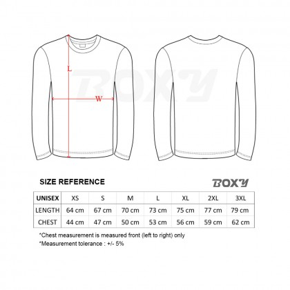 BOXY Microfiber Round Neck Long Sleeves Plain T-shirt (Black)