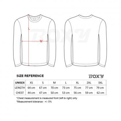BOXY Microfiber Round Neck Long Sleeves Plain T-shirt  (Navy)