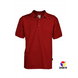 BOXY MICROFIBER CLASSIC POLO SHIRT - RED