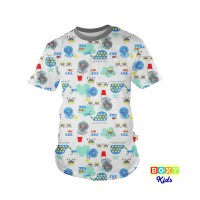 [BOXY]KIDS PREMIUM COTTON GRAPHIC TEE - MELANGE/UNDER THE SEA