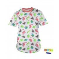 [BOXY]KIDS PREMIUM COTTON GRAPHIC TEE - JURASSIC PARK