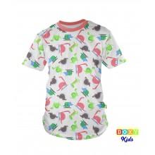 [BOXY]KIDS PREMIUM COTTON GRAPHIC TEE - JURASSIC PARK