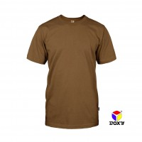 BOXY Microfiber Round Neck T-shirt - Brown