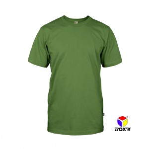 BOXY Microfiber Round Neck T-shirt - Army Green