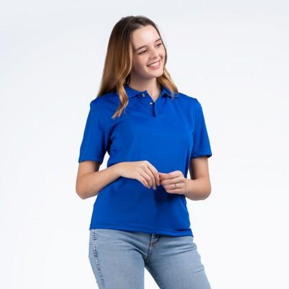BOXY Microfiber Classic Short Sleeve Polo Shirts (Royal Blue)