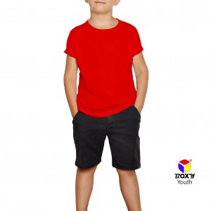 BOXY Youth Microfiber Round Neck T-shirt - Red