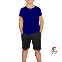 BOXY Youth Microfiber Round Neck T-shirt - Royal Blue