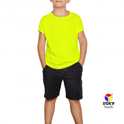 BOXY Youth Microfiber Round Neck T-shirt - Yellow