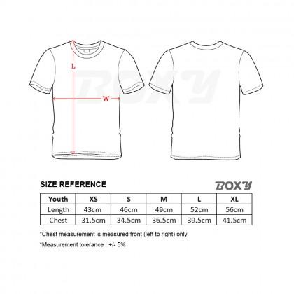 BOXY Youth Microfiber Round Neck T-shirt - Yellow