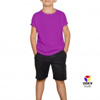 BOXY Youth Microfiber Round Neck T-shirt - Purple