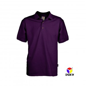 BOXY Microfiber Classic Polo Shirt - Dk Violet
