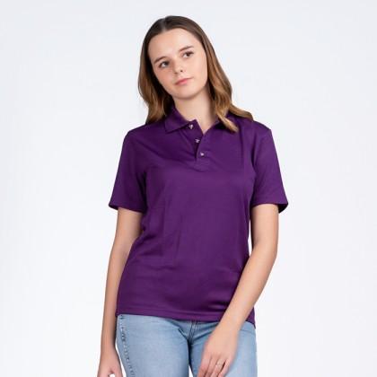 BOXY Microfiber Classic Short Sleeve Polo Shirts (Dark Violet)