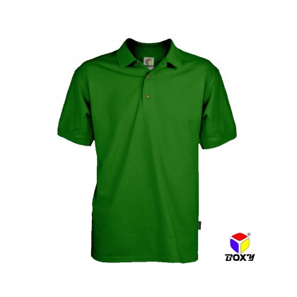 BOXY Microfiber Classic Short Sleeve Polo Shirts (Irish Green)