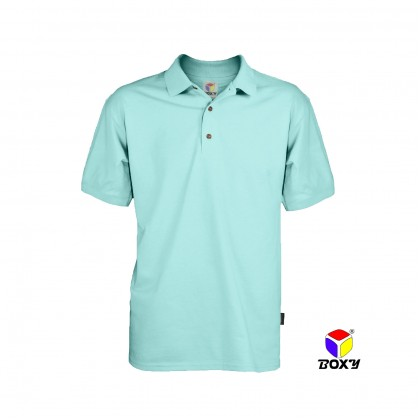 BOXY Microfiber Classic Short Sleeve Polo Shirts with Collar (Island Paradise)
