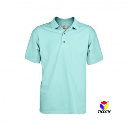 BOXY Microfiber Classic Short Sleeve Polo Shirts with Collar (Island Paradise)