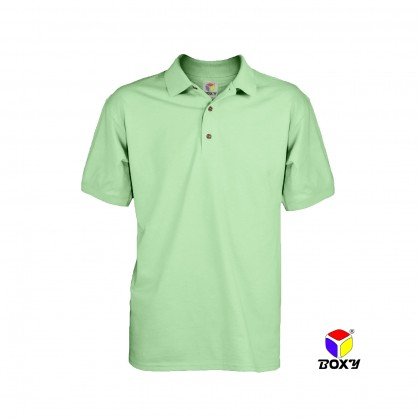 BOXY Microfiber Classic Short Sleeve Polo Shirts with Collar (Cool Mint)