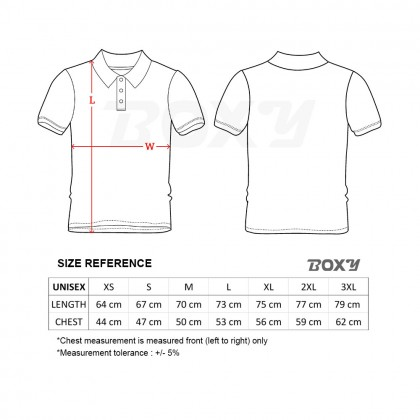 BOXY Cotton Classic Polo Shirts (White)