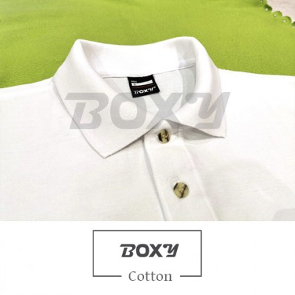 BOXY Cotton Classic Polo Shirts (Navy)
