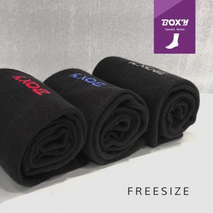 Boxy Men's Black Socks
