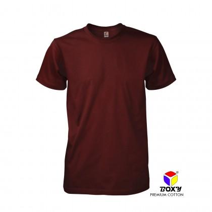 BOXY Premium Cotton Round Neck T-shirt - Maroon