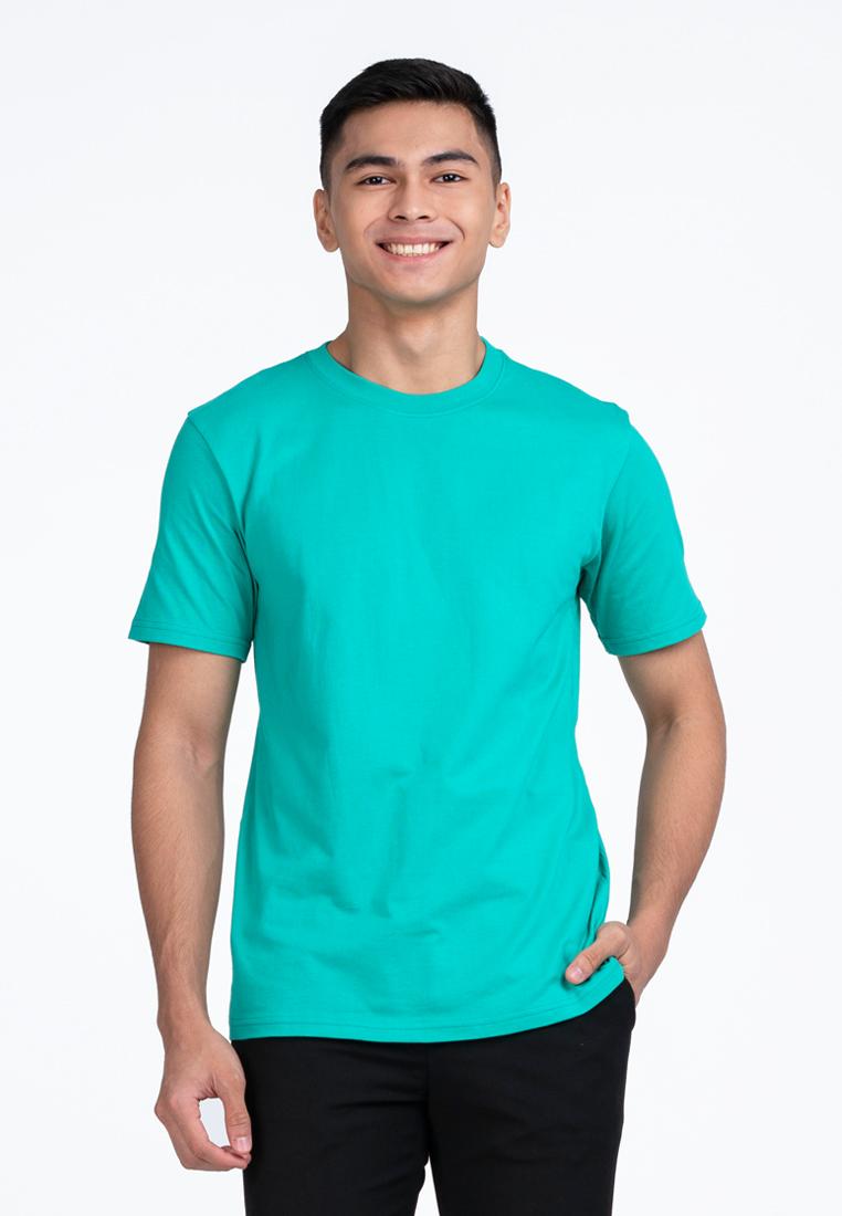 BOXY Premium Cotton Round Neck T-shirt - Smart Green